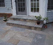 Cut Flagstone Steps and Patio, Edgewater