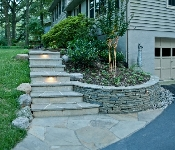 Flagstone Steps with Lighting, Annapolis