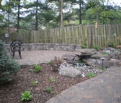 Paver Patio and Pond with Waterfall, Chevy Chase
