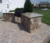 Outdoor Grill with Granite Top, Davidsonville