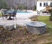 Paver Pool Patio and Fire Pit, Davidsonville