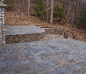 Raised Flagstone Patio, Riva