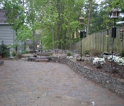 Paver Patio with Circle, Chevy Chase