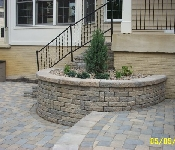 Curved Retaining Wall, Davidsonville