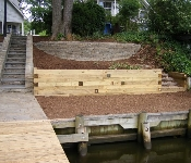 Pressure Treated Timber Retaining Wall, Severna Park