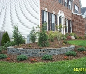 Colonial Wall Stone Planting Wall, Edgewater