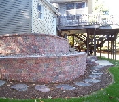 Block Retaining Wall, Huntingtown