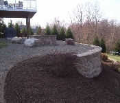 Fire Pit with Stone Facing, Owings