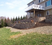 Retaining Wall with Stone Facing, Owings