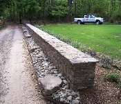 Double Sided Stacked Stone Wall, Arnold