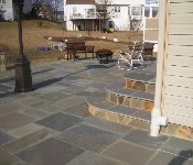 Mortared Flagstone Patio, Bowie