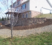 Retaining Wall with Stone Veneer, Owings