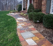 Western Maryland Flagstone Walkway with Lighting, Davidsonville