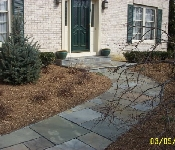 Cut Flagstone Front Walkway and Porch, Davidsonville