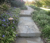 Boulder Steps and Flagstone Walkway, Edgewater
