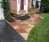 Western Maryland Natural Flagstone Walkway Landing, Annapolis