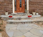 Mortared Flagstone Steps and Walkway, Arnold