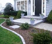 Front Steps and Belgium Block Curbing, Annapolis