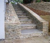 Stone Steps and Retaining Walls, Annapolis