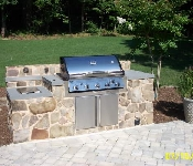 Grill with Stone Facing and Patio, Lothian