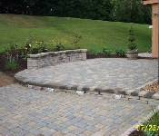 Paver Patio with Lighting, Riva