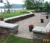 Paver Patio and Sitting Wall, Annapolis