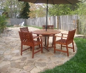 Natural Stone Patio and Fire Pit, Crofton