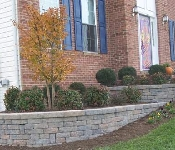 Curved Celtik Front Retaining Wall, Owings