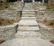 Stacked Stone Steps to Waterfront, Severna Park