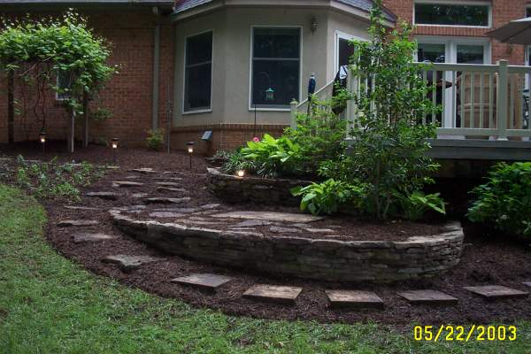 Landscape Stone Ground Cover : Stepping stones ground cover landscping lighting