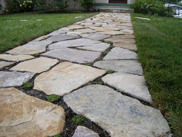 Pervious Stone Walkway With Rock Plants Ciminelli S